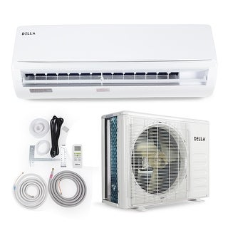 DELLA 9,000 BTU 230V Single Zone Ductless Air Conditioner Mini-Split Heat Pump System, 25 SEER