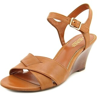 Lauren Ralph Lauren Heila Open Toe Leather Wedge Sandal