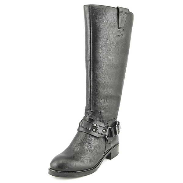Nine West Jamison Women Round Toe Leather Black Knee High Boot
