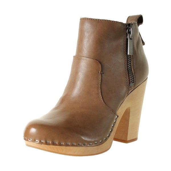 Dolce Vita Womens Arlynn Ankle Boots Contrast Trim Platform