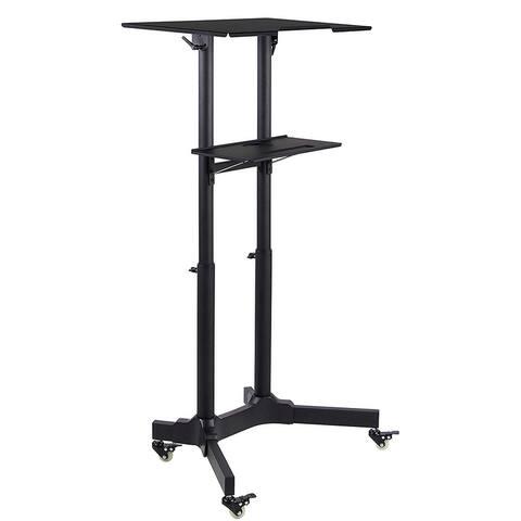Mount-It! Portable Standing Desk Presentation Lectern Laptop Stand Up Desk with Caster Wheels - MI-7971