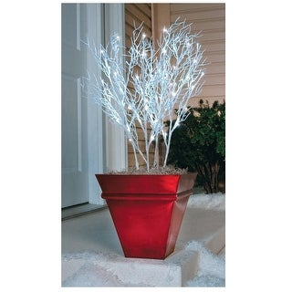 Celebrations 78656-71 LED Branches Christmas Pathway Markers, White