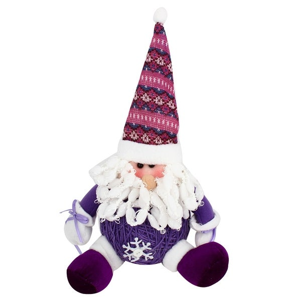 Unique Bargains Santa Claus Christmas Toy Gift Purple White 8.7 Height for Xmas Trees Ornament