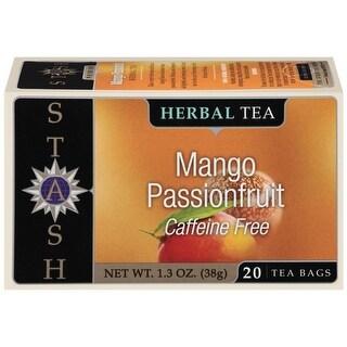 Stash Mango Passionfruit Caffeine Free Herbal Tea Bags 20 Ct   (Pack of 6)