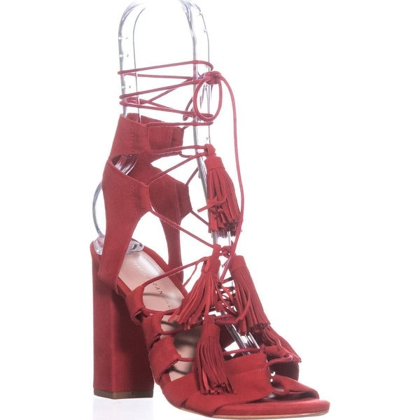 Loeffler Randall Luz Lace Up Gladiator Sandals, Flame - 7.5 us