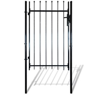"vidaXL Single Door Fence Gate with Spear Top 39""W x 67""H"