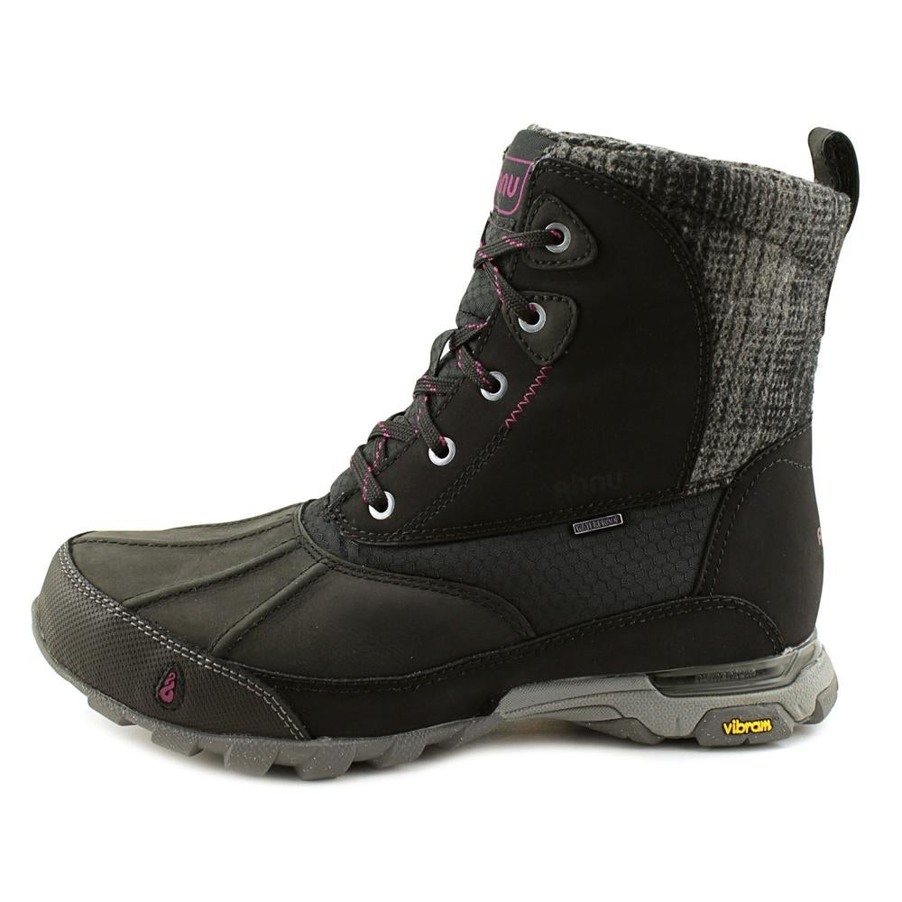 0c6d1814ad5 Ahnu Sugar Peak Insulated Wp Women Round Toe Synthetic Black Snow Boot