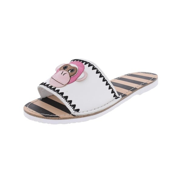 Kate Spade Womens Inyo Slide Sandals Striped Casual White 9.5 Medium (B,M) - 9.5 medium (b,m)
