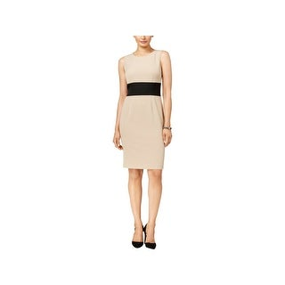 Kasper Womens Petites Wear to Work Dress Knee-Length Colorblocked
