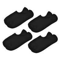 Father's Day Black Pure Pattern No Show Ankle Socks 4 Pairs for Men