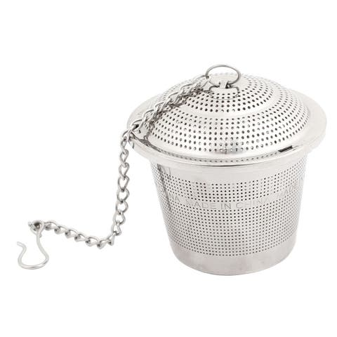 "1.8"" Dia Reusable Stainless Steel Mesh Tea Ball Loose Strainer Infuser + Chain"