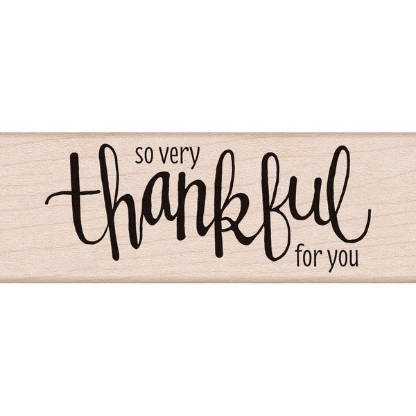 "Hero Arts Mounted Rubber Stamp 3.75""X1.25""-Thankful"