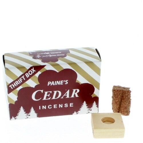 Cedar Incense Cones with Holder