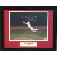Jim Edmonds Autographed St Louis Cardinals 2004 NLCS Catch Signed 11x14 Framed Photo Beckett COA