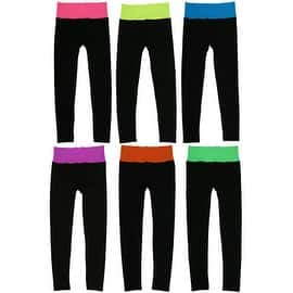 Women 6 Pack Seamless Fold-Over Color Waistband Sports/Yoga Leggings Pants|https://ak1.ostkcdn.com/images/products/is/images/direct/613ba728cfda3099f717aec9570ba1c2882e2506/Women-6-Pack-Seamless-Fold-Over-Color-Waistband-Sports-Yoga-Leggings-Pants.jpg?impolicy=medium