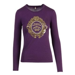 Juicy Couture Black Label Womens Rococo Cameo Embellished Jersey T-Shirt