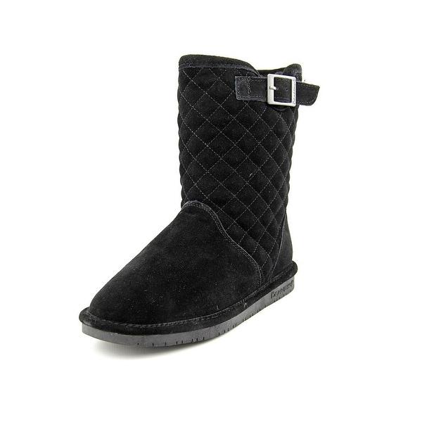 Bearpaw Leigh Anne Women Round Toe Suede Black Winter Boot