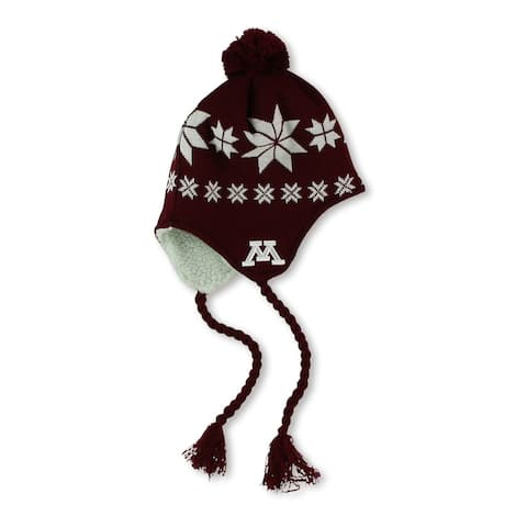 Top of the World Unisex Minnesota Knit Trapper Hat, red, One Size - One Size
