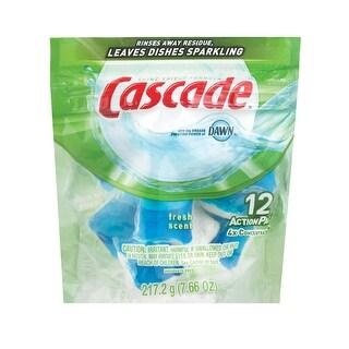 Cascade 3700097715 Action Pack Fresh Scent Dishwasher Detergent, 12 Pack
