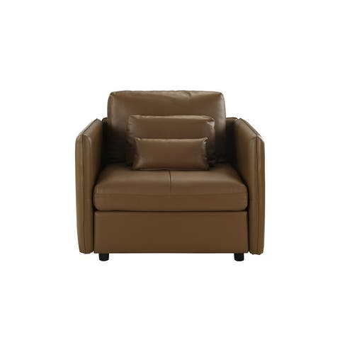 PU Leather Accent Chair
