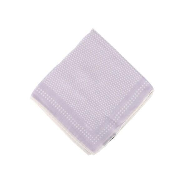 Tom Ford Mens Solid Lavender Silk Pocket Square