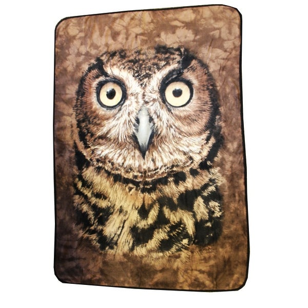 "Owl Face 45""x 60"" Fleece Throw Blanket - Multi"