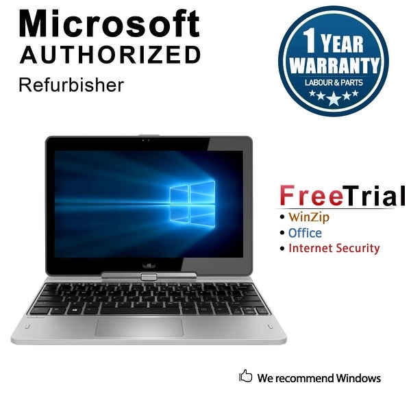 Refurbished HP EliteBook Revolve 810 G2 11.6'' Tablet Intel Core i5-4300U 1.9G 4G DDR3 128G SSD Win 10 Pro 1 Year Warranty