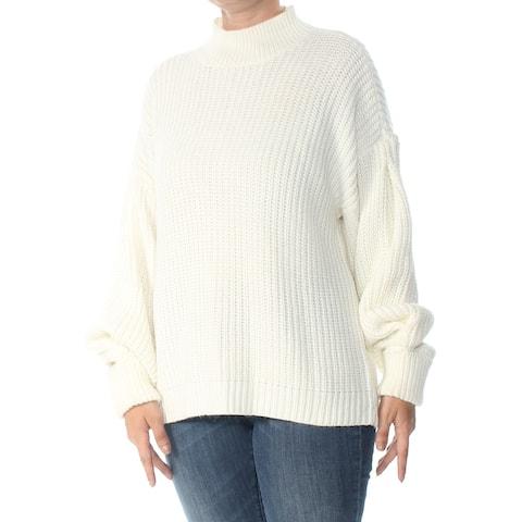 SANCTUARY Womens Ivory Mara Drop Shoulder Mock Neck Sweater Size L
