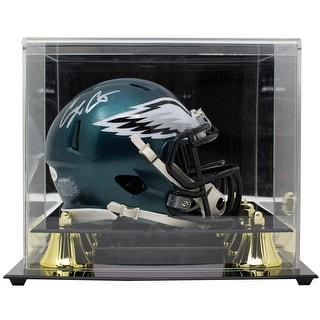Corey Clement Signed Philadelphia Eagles Mini Speed Replica Helmet JSA W Case
