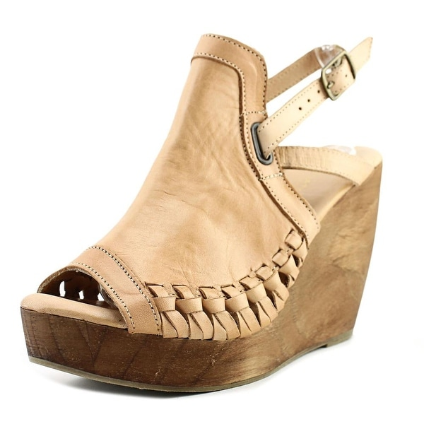 88417be88a1 Shop Very Volatile Carry Women Open Toe Leather Tan Wedge Heel ...