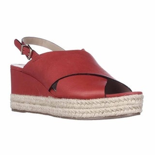 Via Spiga Triana Espadrille Slingback Wedge Sandals - Red