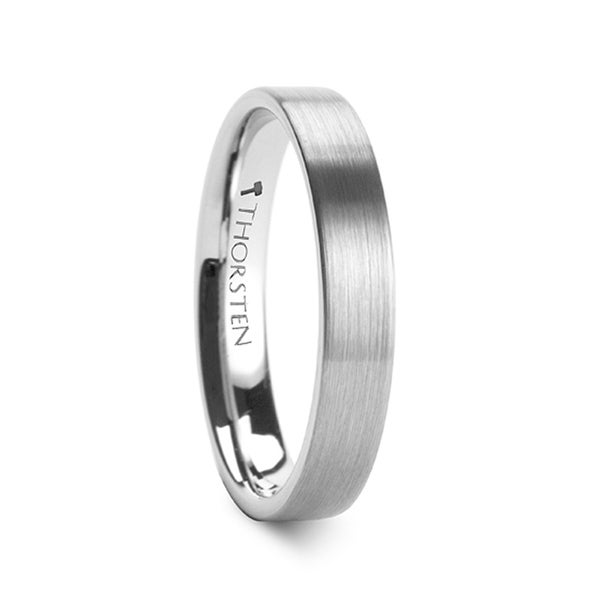 THORSTEN - MERCURY Flat Brush Finish Tungsten Wedding Ring - 4mm