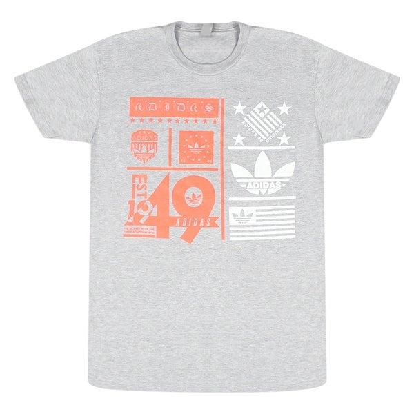 b2b5ee7cd Shop Adidas Originals Trefoil Logo Men s Grey T-Shirt Est 1949 - Free  Shipping On Orders Over  45 - Overstock - 17067649