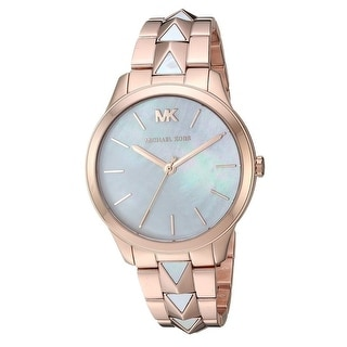 Link to Michael Kors Women's MK6671 Runway Mercer Rose Gold and White Stainless Steel Watch Similar Items in Women's Watches