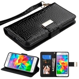 Insten Stand Folio Flip Crocodile Skin Leather Wallet Flap Pouch Case Cover For Samsung Galaxy Grand Prime