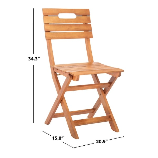 "Safavieh Outdoor Living Blison Folding Chairs - 15.8""x20.9""x34.3"""
