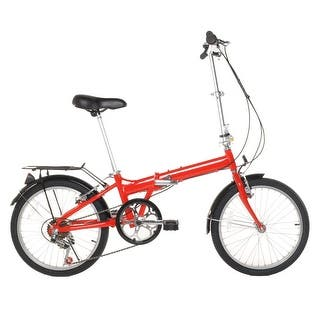 """20"""" Lightweight Aluminum Folding Bike Foldable Bicycle, Rack and Fenders