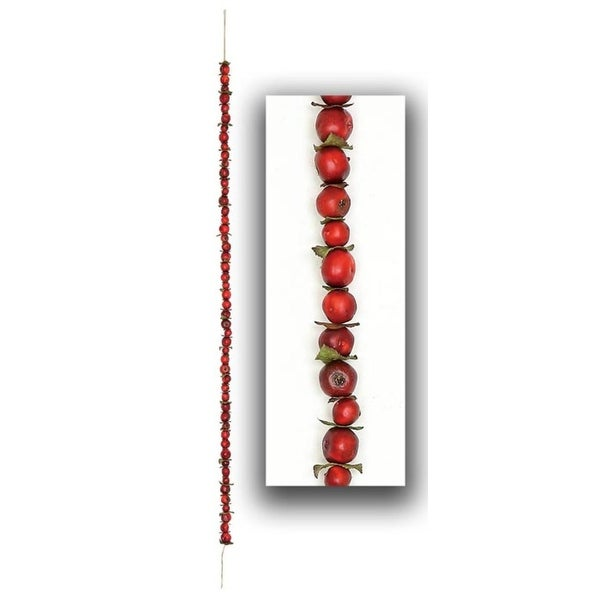 "55"" Red Autumn Harvest Crabapple Christmas Garland Swag"