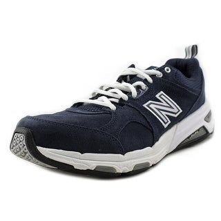 New Balance 857 Women 4E Round Toe Suede Blue Cross Training