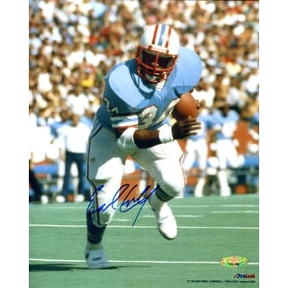 low priced af08f 4f69b Earl Campbell signed Houston Oilers 8X10 Photo blue jersey TriStar Hologram  | Overstock.com Shopping - The Best Deals on Baseball