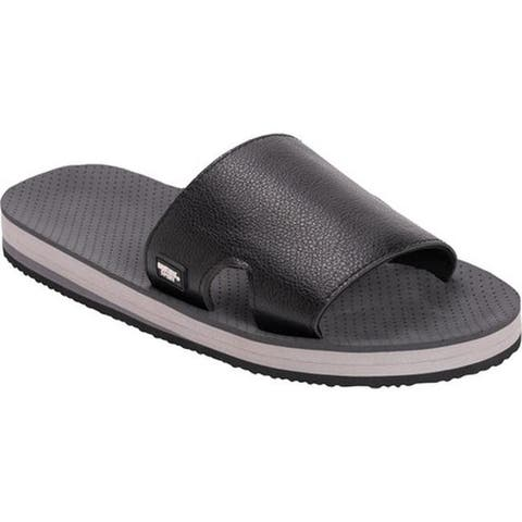 MUK LUKS Men's Declan Slide Sandal Black Polyurethane