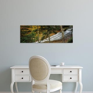 Easy Art Prints Panoramic Image 'Waterfall in forest, Laughing Whitefish Falls, Upper Peninsula, Michigan' Canvas Art