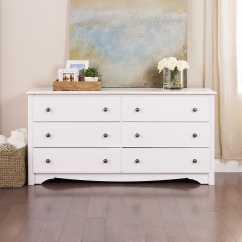Prepac Monterey 6-drawer Pine and MDF Dresser