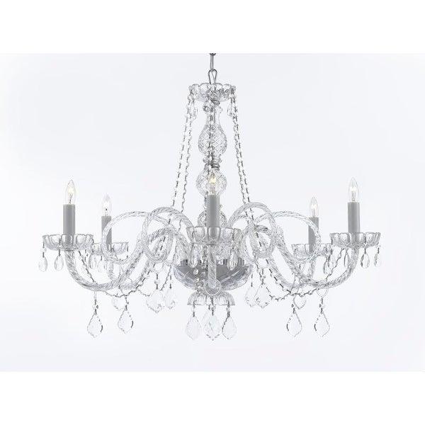 Venetian Style Crystal 6 Light Chandelier