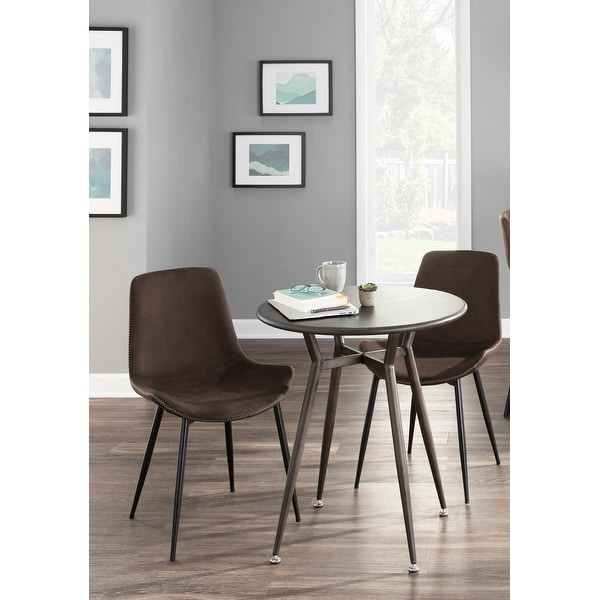 Carbon Loft Richard Black Metal Industrial Dining Chairs (Set of 2) - N/A. Opens flyout.