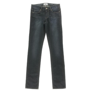 Paige Womens Juniors Skyline Straight Straight Leg Jeans Mid-Rise Button-Zip Fly - 27