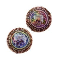 Mirage Color Changing Mood Beads - Sun Blossom Pattern 16mm Diameter (2)