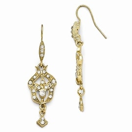 Goldtone Downton Abbey Crystal Dangle Post Earrings