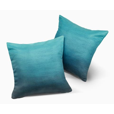 """Big Sur Double Sided Indoor Outdoor Decorative Pillows - 18"""" x 18"""" - Set of 2"""