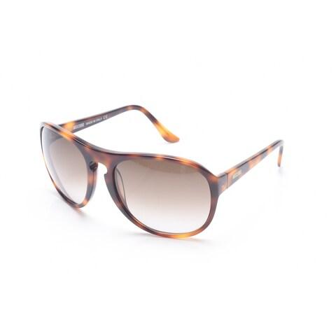 Moschino Women's Oversized Round Frame Sunglasses Tortoise - Brown - Small